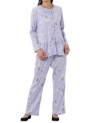 マーガレット 総柄前開きパジャマ