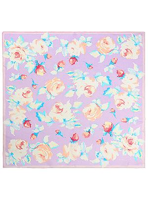 バラ シルクローンスクエアスカーフ