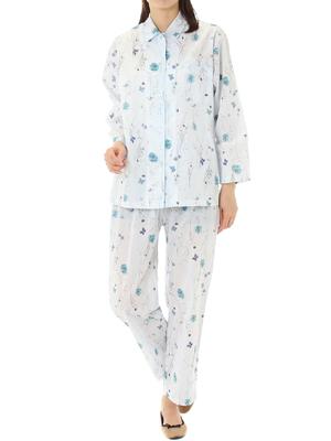 フローティングフラワー 前開きパジャマ